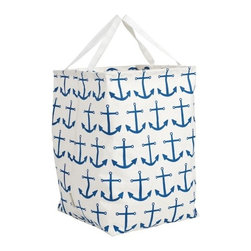 Blue Anchor Canvas Storeall Storage Container - 100% cotton