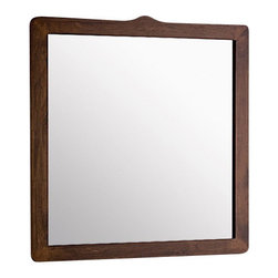 Gedy - Old Walnut Colored Wooden Framed Mirror - If you want a vanity mirror, why not consider this designer vanity mirror from the Gedy Montana collection? Perfect for more contemporary settings, this quality vanity mirror is wall mount and finished with old walnut.