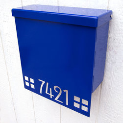 Custom Mission Edition House Number Mailbox No. 1310 Drop Front in Powder Coated - Custom House Number Mailbox No. 1310 Drop Front in Powder Coated Aluminum