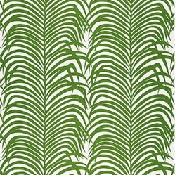 Zebra Palm Linen Print Fabric, Jungle