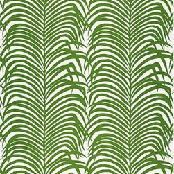 F. Schumacher - Zebra Palm Linen Print Fabric - Tropical palm trees on parade are simultaneously camouflaged by their wavy leaves into a zebra-like array! Displayed in your bedroom, kitchen or bath, this playful pattern by F. Schumacher will enchant and captivate guests and family alike.