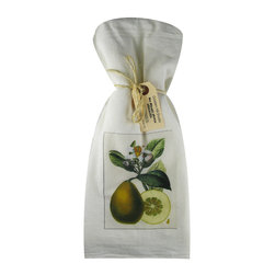 Pear Slice    Flour Sack Towel  Set of 2 - A fabulous set of 3 flour sack towels. This set features a wonderful antique botanical print of a Pear Slice   These towels are printed in the USA by American Workers!