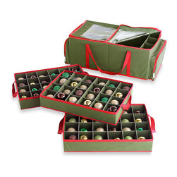 Real Simple 3-Tray Holiday Ornament Storage - Your holiday decor is only on display for, in theory, six or so weeks a year. Keep your collection of seasonal family heirlooms safe with a few of these ornament storage bags.