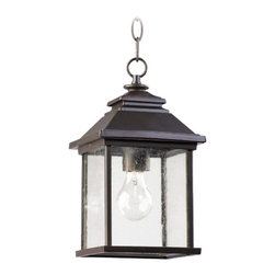 Quorum Lighting Pearson Oiled Bronze Outdoor Hanging Light -