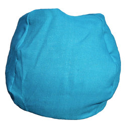 Bean Bag Boys - Bean Bag Boys Fabric Bean Bag Chair in Turquoise - Pear-shaped design offers back support or rounded appearance as needed. Complies with voluntary CPSC Guidelines for zipper closures. 100% Recyclable Product. Product is Refillable Proudly made in the U.S.A. Double-Stitched with Clear Nylon for added Strength.