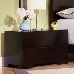Ligna USA Inc - Carmel 2 Drawer Nightstand Multicolor - 4922 - Shop for Nightstands from Hayneedle.com! A key piece in any bedroom is spacious and stylish bedside storage like the Carmel 2 Drawer Nightstand. This sleek wood nightstand has a smooth flat top that's ideal for keeping a reading lamp fresh flowers or your favorite drink within easy reach of your bed. Its two spacious drawers provide ample room for remote controls books and other bedside essentials. Equipped with a self-closing mechanism the drawers feature full-extension drawer guides wooden back panels and fully finished snag-free interiors. This sturdy piece is built with bored dowel and glue construction as well as a dust-proofed case bottom. This contemporary nightstand is constructed from durable hardwood solids and walnut veneers. Clean drawer fronts straight legs and hand-rubbed walnut finish enhance the chic modern design.About Ligna FurnitureEstablished in 1975 Ligna Furniture is a family-owned business that specializes in furniture handcrafted in Indonesia. Distributed worldwide Ligna offers high-quality furniture for your home and its products include a wide selection of complete bedroom sets (beds nightstands and dressers). From its headquarters in Rancho Cucamonga Calif. the company operates a distribution center in Mount Airy N.C. as well as showrooms in High Point N.C. and Las Vegas. It also operates three manufacturing facilities that span 2 million square feet. Ligna is committed to superior customer service and offering a wide selection of furniture at exceptional value.