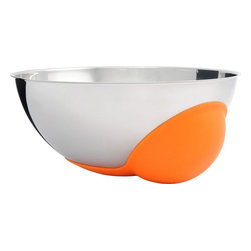 "Alessi - Alessi ""Cul-de-Poule"" Mixing Bowl - Translated as a hen's bottom — in this case — a round-bottomed mixing bowl. Odd as it may sound, the bump is a useful tool, so that you can mix ingredients in small quantities first, before blending in the stainless steel larger bowl. You'll soon feel like a French pastry chef!"