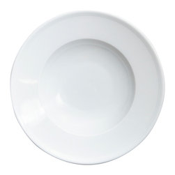 Thomas - Loft Trend White Porcelain Pasta Plate - Fresh and contemporary, the Loft collection is simple and functional. It features a subtle white on white line relief and is a wonderful choice for entertaining. It will move with ease from casual dining occasions to formal ones.