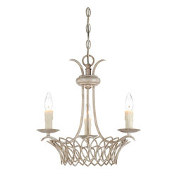 Savoy House - Savoy House 1-5780-3-329 Linwood 3 Light Chandelier - The Linwood collection has the charm and warmth of an antique iron chandelier. Delicate handcrafted metalwork is accented by a Vintage White finish and Pale Cream Beeswax candles.