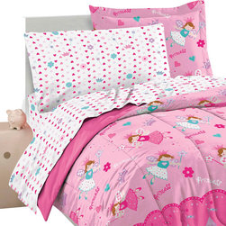 CHF Industries Inc - Magical Princess Twin Bedding Set 5pc Fairy Castle Bed - FEATURES: