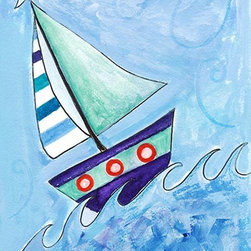 Oh How Cute Kids by Serena Bowman - Sailboat 2, Ready To Hang Canvas Kid's Wall Decor, 16 X 20 - Each kid is unique in his/her own way, so why shouldn't their wall decor be as well! With our extensive selection of canvas wall art for kids, from princesses to spaceships, from cowboys to traveling girls, we'll help you find that perfect piece for your special one.  Or you can fill the entire room with our imaginative art; every canvas is part of a coordinated series, an easy way to provide a complete and unified look for any room.
