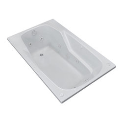 Arista - Troy 42 x 72 Rectangular Whirlpool Jetted Drop-In Bathtub with Left Drain - DESCRIPTION