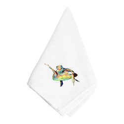 Caroline's Treasures - Turtle Napkin 8672NAP - Dinner Napkin - 100% polyester - wash, dry and lay flat.  No ironing needed.  20 inch by 20 inch