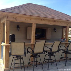 Surfside Pool Cabana by Summerwood - What can be better for a backyard with a pool? Summerwood Surfside design is perfect as an additional storage space, bar area and a changing room.