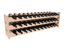 Wine Racks America® - 36 Bottle Scalloped Wine Rack in Pine, (Unstained) - Stack three cases of wine in a decorative 36 bottle rack using pressure-fit joints for easy assembly. This rack requires no hardware, no tools, and is ready to use as soon as it arrives. Makes for a perfect gift and stores wine on any flat surface.