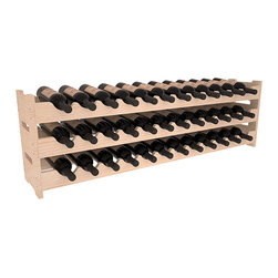 Wine Racks America - 36 Bottle Scalloped Wine Rack in Pine, (Unstained) - Stack three cases of wine in a decorative 36 bottle rack using pressure-fit joints for easy assembly. This rack requires no hardware, no tools, and is ready to use as soon as it arrives. Makes for a perfect gift and stores wine on any flat surface.