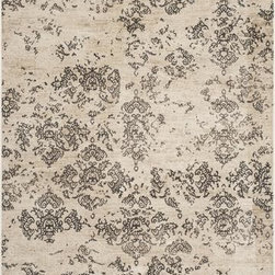 "Safavieh - Safavieh Vintage VTG182-3440 6'7"" x 9'2"" Stone Rug - Inspired by timeless designs, Safavieh's Vintage collection is crafted with the softest viscose produced. This collection is power-loomed and made with viscose pile."