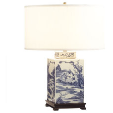 Painted Chinese Lamp - Landscapes   Decorative Lighting   Wisteria