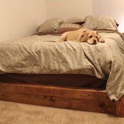 James+James Beds - James+James king sized Platform Bed in our Early American stain.