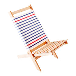 Gallantandjones - Beach Chair Negril - Folding Beach Chair with Fabric Back