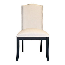 Urban Home Beverly Glen Side Chair - Made of superior dense foam for comfort and ergonomic support. This chair is perfect for a grand dining experience or as an accent chair. Features gold studs and all around elegant styling.
