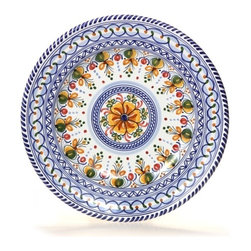 "Spanish Floral 13"" Majolica Decorative Plate - Spanish Floral 13"" Majolica Decorative Plate"