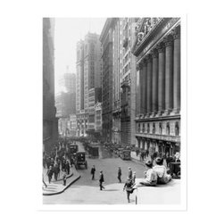 Artehouse Wall Street Art Print - 18W x 24H in. - Wall Street is a limited edition black and white photograph print on Somerset Velvet paper. It is a vintage photo of Wall Street which makes it a great gift idea for the stockbroker or financial banker in your life. This quality print measures 24L x 18 inches high. It has a white border and is ready to be framed.