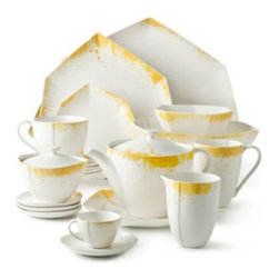 "Diane von Furstenberg ""Brushstroke"" Dinnerware Collection - What a fantastic way to bring a pop of playful yellow to the table!"