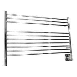 Amba - Amba | Jeeves L Straight Towel Warmer - Made in South Africa by Amba.A part of the Jeeves Collection. The Jeeves L Straight Towel Warmer functions remarkably as a convenient towel heater for the modern bathroom or as a space heater for any room in your home. The simple to use design with ideally spaced bars ensure this towel warmer offers space for both thick and thin towels. The convenient design is specifically designed to artfully house multiple towels at one time. Select from a variety of finishes to complete your bath space. Product Features: