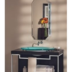 Broan-Nutone Metro Octagon Medicine Cabinet - The chamfer corners on this give it a more Hollywood glam or deco look.