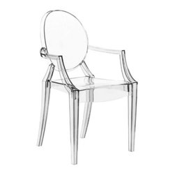 Starck Louis Ghost Chair in Clear - Are you sitting or are you floating? A set of these stylish chairs will be the topic of conversation at the table.