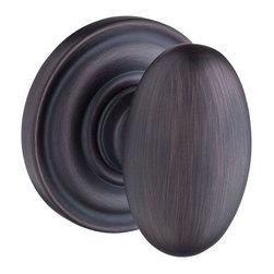 Baldwin Hardware - Baldwin Reserve Ellipse Knob, Venetian Bronze - Full Dummy - Full Dummy function