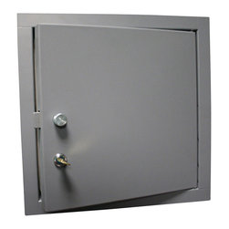 """Best Access Doors - Exterior Door for Walls and Ceilings, Prime Coat Suitable for Painting, 24""""x36"""" - 24"""" x 36"""" Exterior Door for Walls and Ceilings BA-ED Exterior Access Doors are manufactured and engineered to provide access to exterior applications ensuring years of protection against outdoor elements. New technology helps to manifest resistance to water and vapor. BA-ED Exterior Door includes foam insulation and neoprene gasket on four sides.  BA-ED Exterior Access Door Specifications      Door:  24"""" wide x 36"""" high  Rough Opening Size: 24 �_��"""" wide x 36 �_��"""" high Material: 16 gauge galvanneal steel Lock/Latch: Cylinder lock with knurled knob or key operation Flange: 1"""" flange Hinge: Concealed  Finish: Prime coat suitable for painting"""