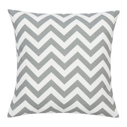 Look Here Jane, LLC - Chevron Grey Pillow Cover - PILLOW COVER