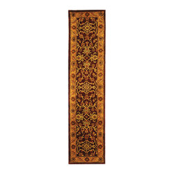Safavieh - Safavieh Handmade Golden Jaipur Burgundy/ Gold Wool Runner (2'3 x 12') - This handmade wool runner with a Taj Mahal-inspired design can make your hallways and narrow areas more comfortable. Using burgundy and gold to complete the Oriental design, this area rug can act as a bold focal point for rectangular spaces.