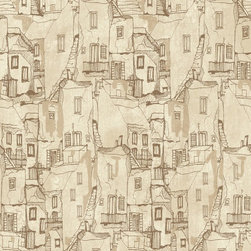 Norwall - Seaside City Wallpaper Double Roll - 1 Double Roll