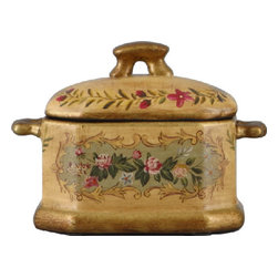 Oriental Danny - Porcelain accent box in Rose Cottage - Put your keys or trinkets in this charming porcelain box for safekeeping. The antique-inspired floral design makes this container as attractive as it is handy.