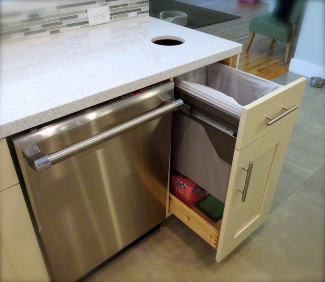 Kitchen Countertop Garbage Chute