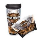 Tervis - Tervis Harley-Davidson Fire & Wings Wrap 24-Ounce Tumbler - Show off your love for your favorite motorcycle with this Harley-Davidson Fire & Wings wrap tumbler. Tervis Tumblers are made with double walled insulation to keep hot drinks hot and cold drinks cold. Greatly reduces condensation and sweating.