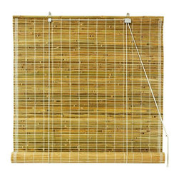 Oriental Unlimted - Burnt Bamboo Roll Up Blinds in Natural (72 in - Choose Size: 72 in. WideTransform your home into an island inspired paradise with the addition of these durable burnt bamboo roll up blinds, ideal for a sun porch, patio or any space with a relaxed, casual design. Available in your choice of sizes, the blinds are finished in natural for a warm, appeal. Burnt bamboo roll up blinds are a versatile addition to any window. They will fit in with any decor. Easy to hang and operate. 24 in. W x 72 in. H. 36 in. W x 72 in. H. 48 in. W x 72 in. H. 60 in. W x 72 in. H. 72 in. W x 72 in. H