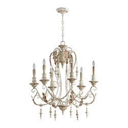 Cyan Design - Cyan Design 06577 Lolina Persian White 6 Light Chandelier - Cyan Design 06577 Persian White 6 Light Chandelier