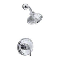 KOHLER - KOHLER K-T396-4E-2BZ Devonshire Rite-Temp Pressure-Balancing Shower Faucet Trim - KOHLER K-T396-4E-2BZ Devonshire Rite-Temp pressure-balancing shower faucet trim, valve not included in Oil-Rubbed Bronze