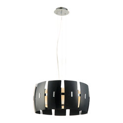 Bromi Design Hendrix Modern Black Lighting Pendant