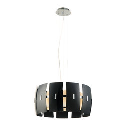 Bromi Design - Bromi Design Hendrix Modern Black Lighting Pendant - This fashion-conscious pendant really knows how to pull all the pieces together. It has enough confidence to hang solo, but you can also group a few together over your home bar or kitchen island.