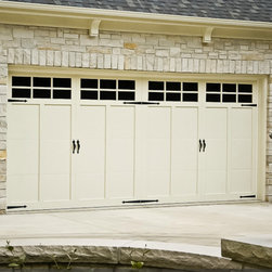 Traditional Doors - 921 in white with white overlays, 6 pane windows hinges and handles