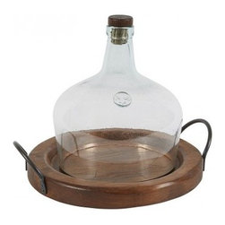 """Europe2You - Vintage Wooden Spanish Cafe Tray - Looking to add contemporary elegance to your restaurant, home or fine dining establishment? Our rustic yet contemporary serving tray will surely lend a sharp edge to your cocktails, parties, events and special occasions. Made of reclaimed materials found in Central Europe and finished with organic oils, this tray will delight guests and family members with its old world charm. In addition, this is the perfect fruit and cheese tray as the raised edge keeps all your contents in place. * Dimensions: W: 13"""" H: 1.5"""" D: 13"""""""