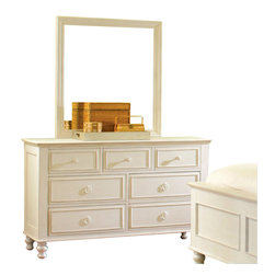 Riverside Furniture - Riverside Furniture Placid Cove 7 Drawer Dresser in Honeysuckle White - Riverside Furniture - Dressers - 16762 - Riverside's products are designed and constructed for use in the home and are generally not intended for rental commercial institutional or other applications not considered to be household usage.
