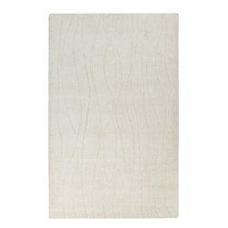 """Surya Rugs - Wave Winter White Rug Size: Runner 2'6"""" x 8' - 50% Acrylic / 50% Wool. Rugs Size: 2'6"""" x 8'. Note: Image may vary from actual size mentioned."""