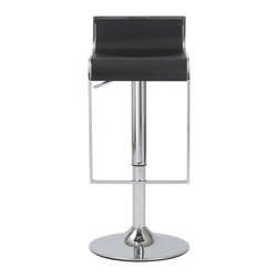 Euro Style - Euro Style Fortuna Bar / Counter Stool X-18340 - A low back, a gentle curve for your knees and a footrest that hangs in a chromed steel frame, this stool has a place for everything. It also has adjustable height and swivel functions. For bar or counter, the Fortuna is a very fortunate choice.
