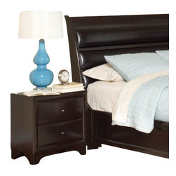 "Coaster - Night Stand (Brown Maple) By Coaster - For functional storage and display space as well as a chic and timeless look, this maple nightstand is an exceptional choice. Sleek ovulo mouldings, convex case fronts, and bracket feet adorn this piece, while a rich Brown Maple finish gives it a sophisticated look. The top of the nightstand is the ideal place for your bedside lamp, alarm clock, or cell phone, while the two drawer offer additional storage for bedroom necessities. Features: Brown Maple finish on Maple veneers Made from Wood Veneers & Solids Bright metal knob hardware Transitional style Convex drawer fronts, beveled edges, and bracket feet 2 drawers Specifications: Overall product dimensions: 23.5""W x 23.75""H x 14.75""D"